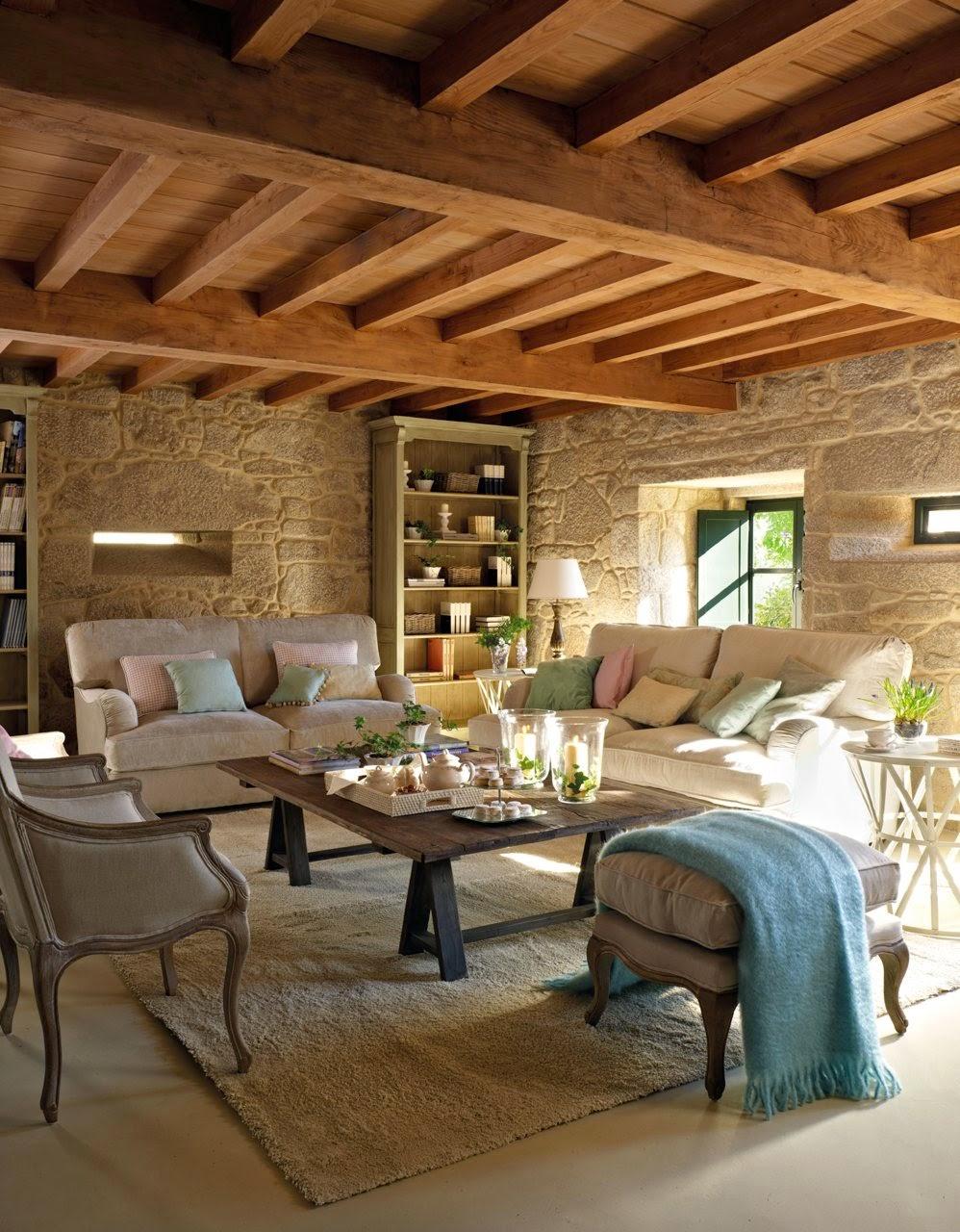 Cómo decorar una casa rústica - vigas vistas