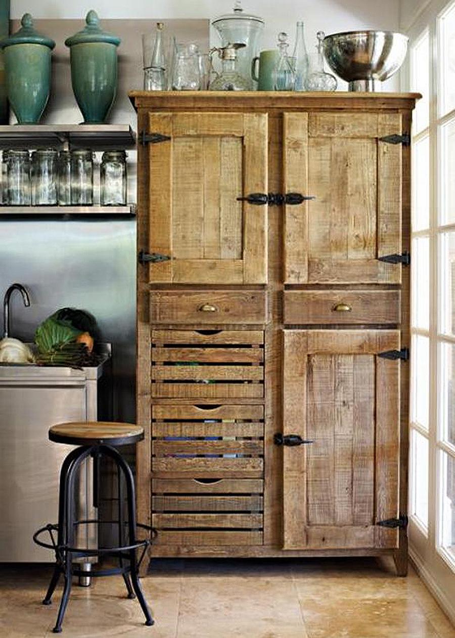 Cómo decorar una casa rústica - alacena