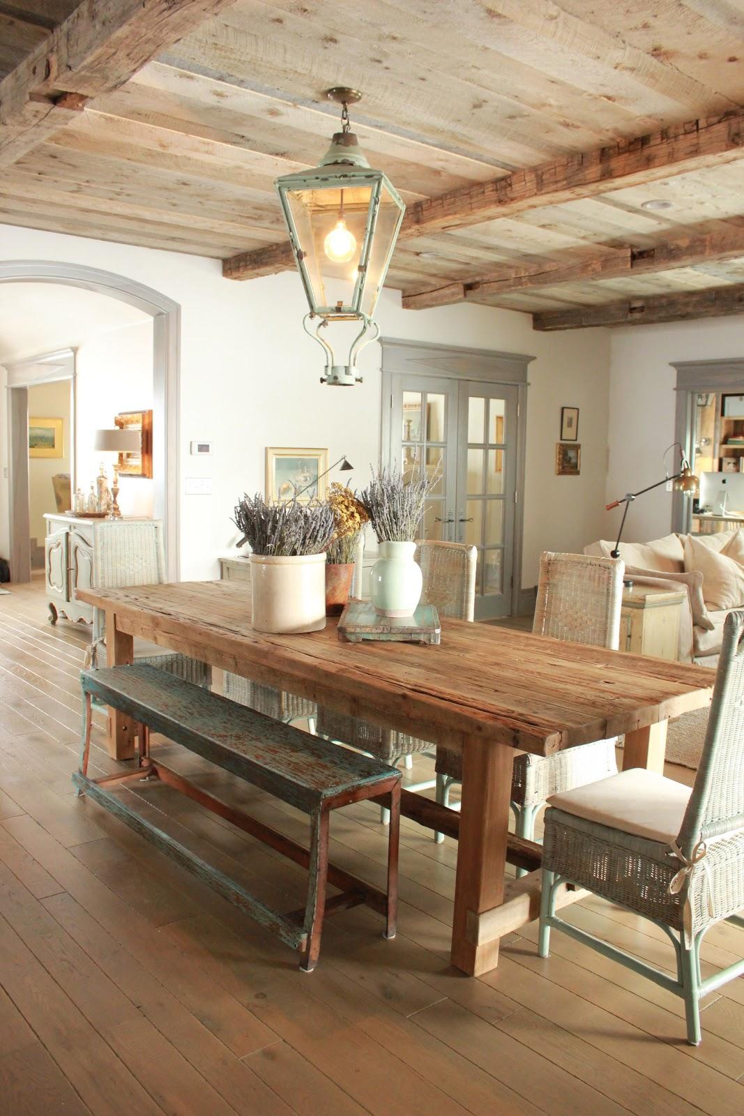 Cómo decorar una casa rústica - comedor
