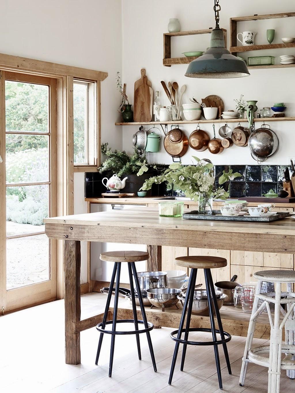 Cómo decorar una casa rústica - cocina