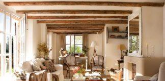 Cómo decorar una casa rústica - salón