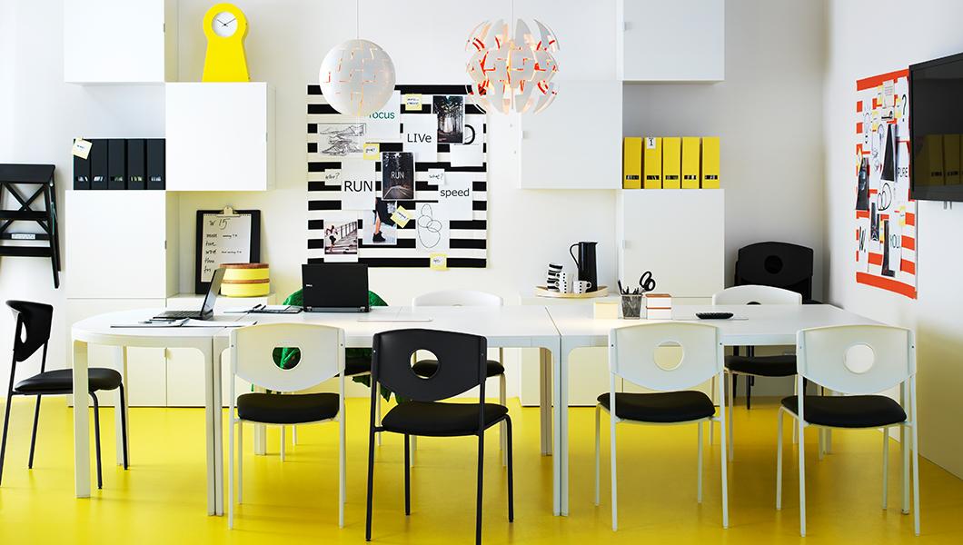 Mobiliario de oficina Ikea en color