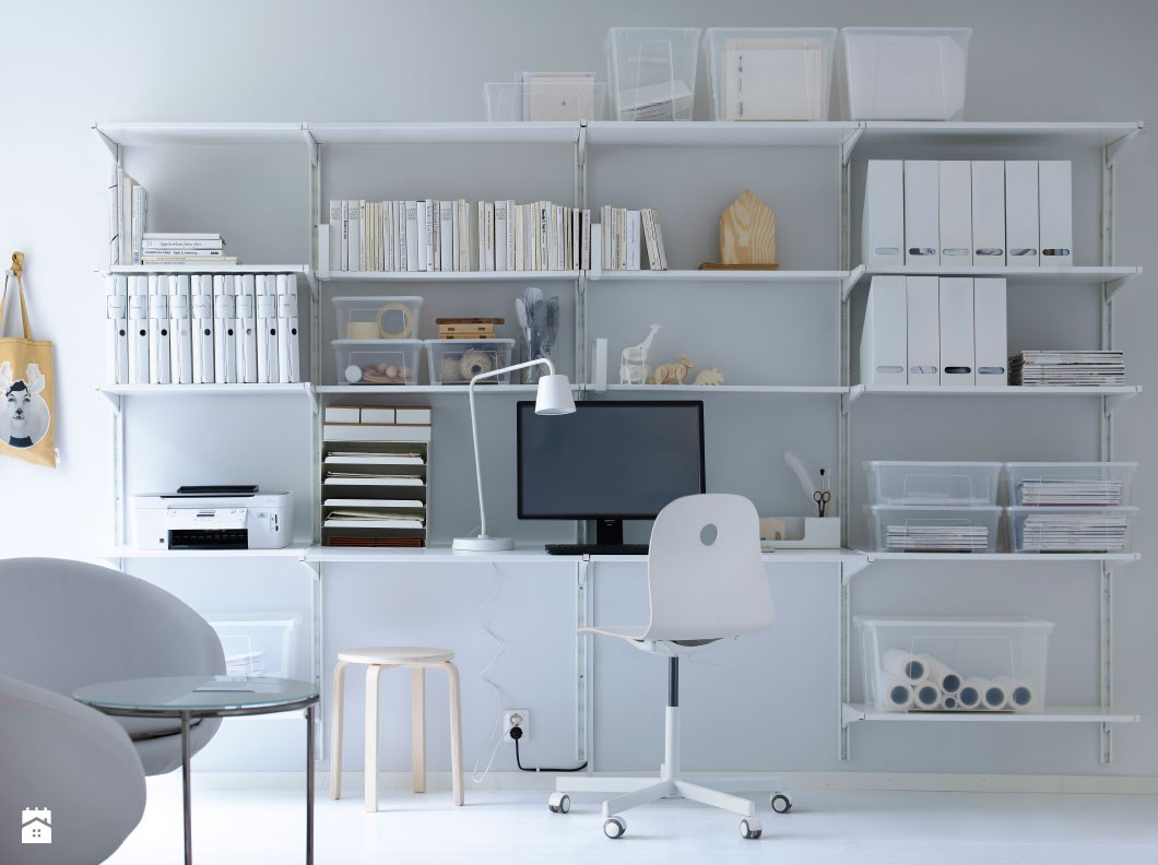 escritorio totalmente blanco modular