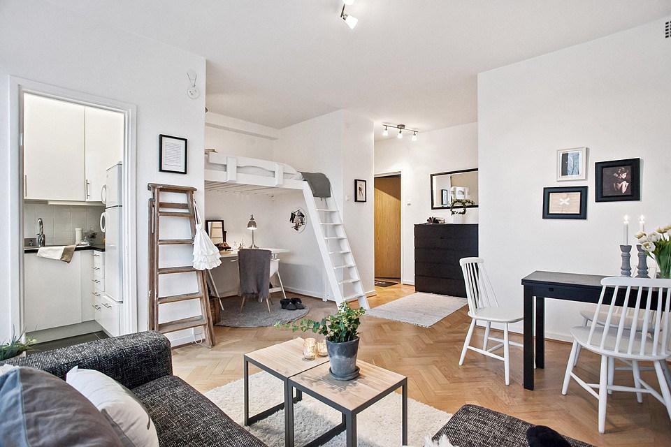 amueblar una casa pequeña -dimensiones adecuadas