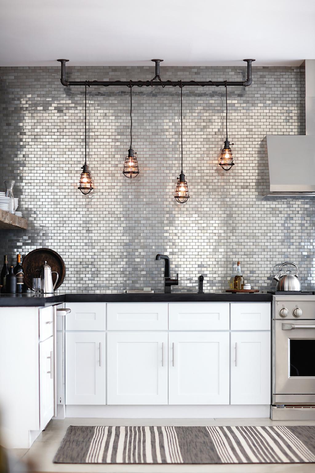 amueblar una casa pequeña - azulejos de espejos