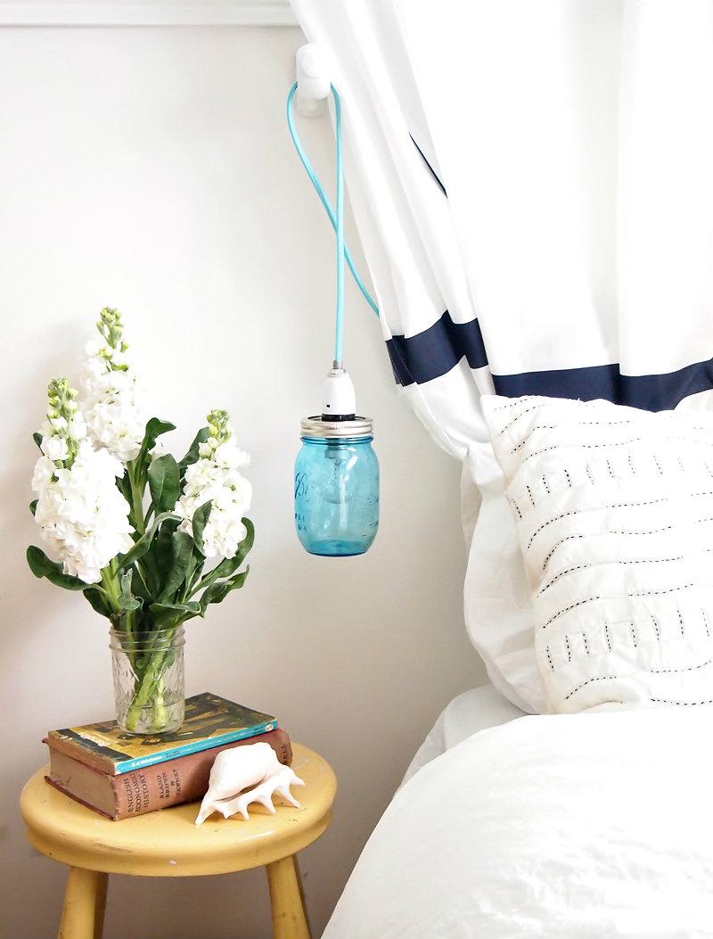 reciclar tarros de cristal para lámparas