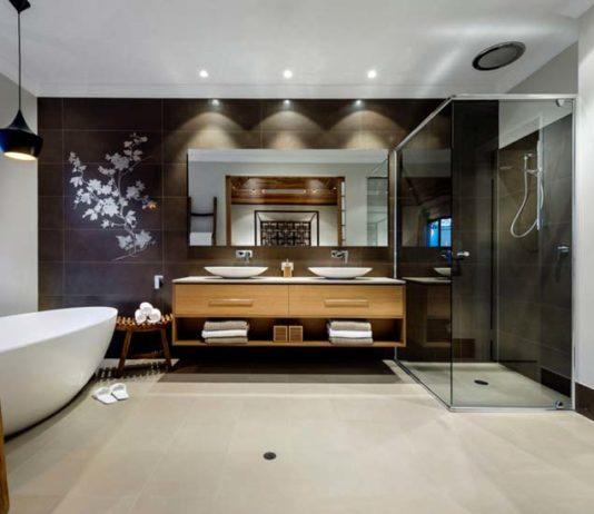 vinilos decorativos para baño - en la pared