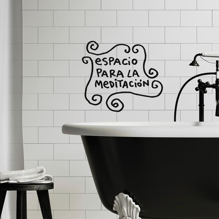vinilos decorativos para baño - estilo nórdico