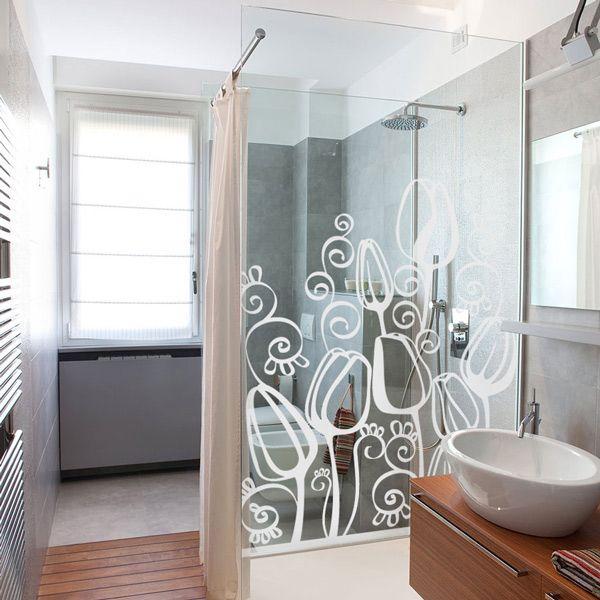 vinilos decorativos para baño - en la mampara de ducha