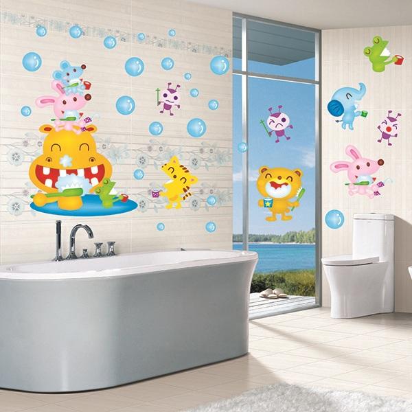 vinilos decorativos para baño - con dibujos infantiles