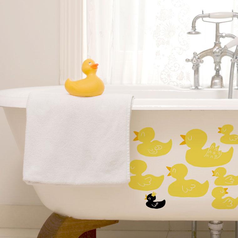 vinilos decorativos para baño - con patitos