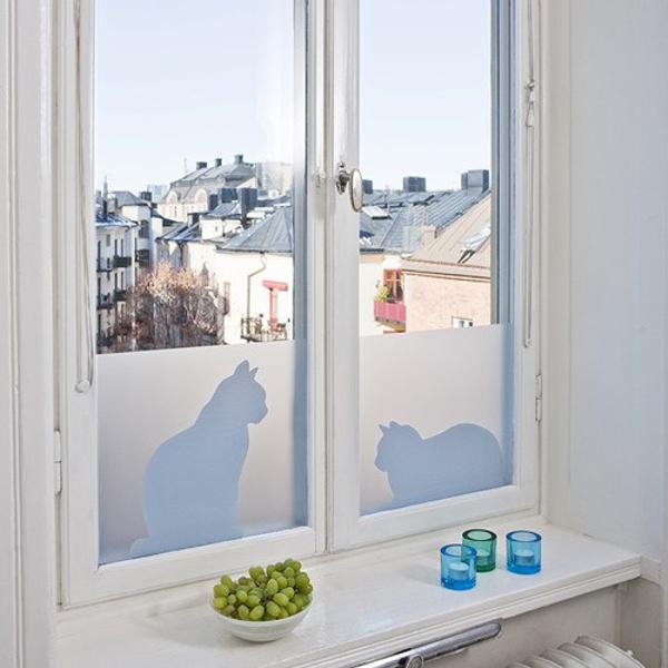vinilos decorativos para baño - figuras de gatos