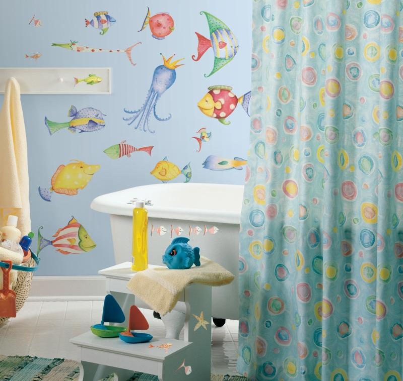 vinilos decorativos para baño - para niños