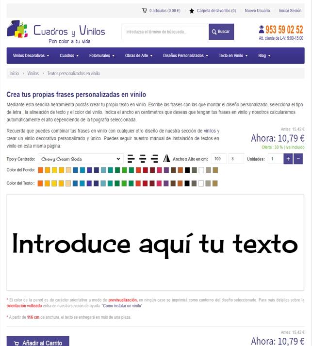 diseñar vinilos online - web