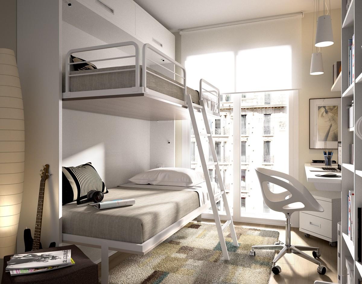 literas abatibles - para dormitorios pequeños