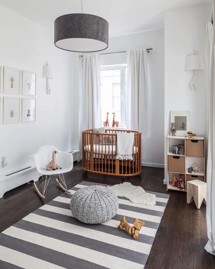 dormitorio de bebé - de estilo nórdico