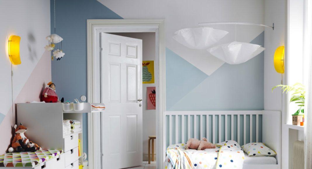 dormitorio de bebé- en tonos azules