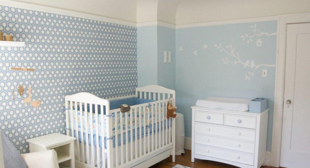 dormitorio de bebé - papel pintado