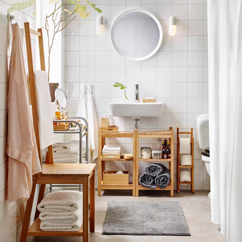 muebles de baño baratos - módulos abiertos