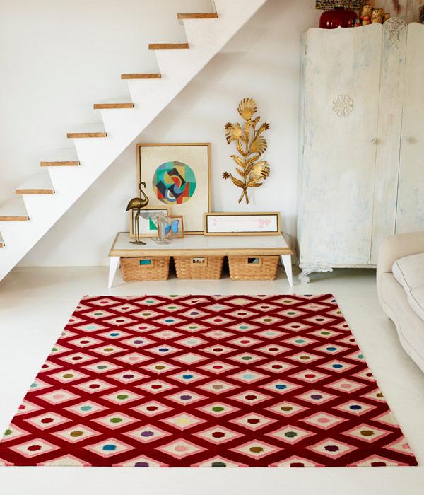 la alfombra perfecta con estampado llamativo