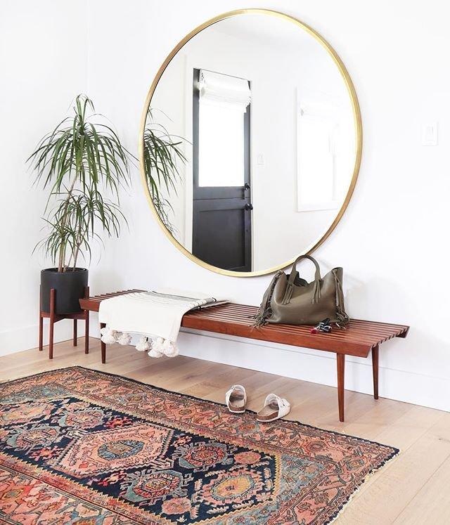la alfombra perfecta en el recibidor