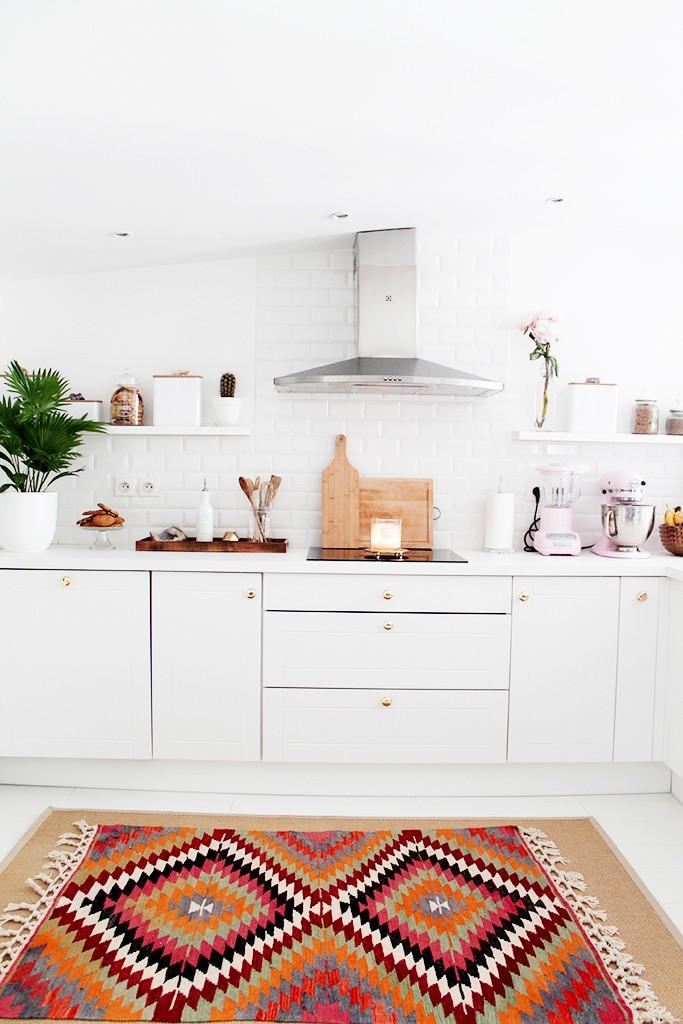 la alfombra perfecta en la cocina