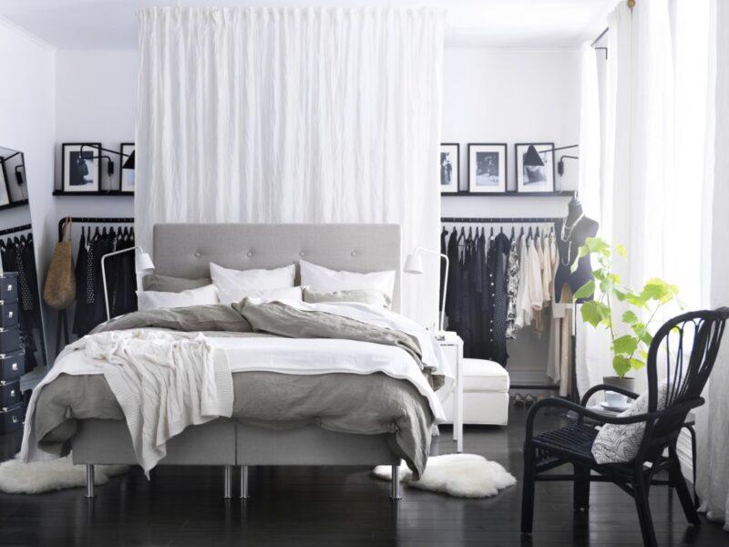 vestidor a medida con cortinas