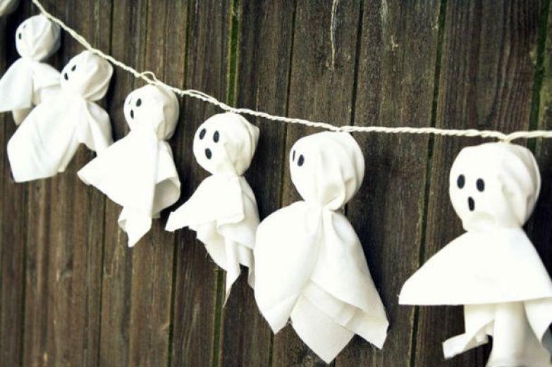 decoración de Halloween casera con iluminación