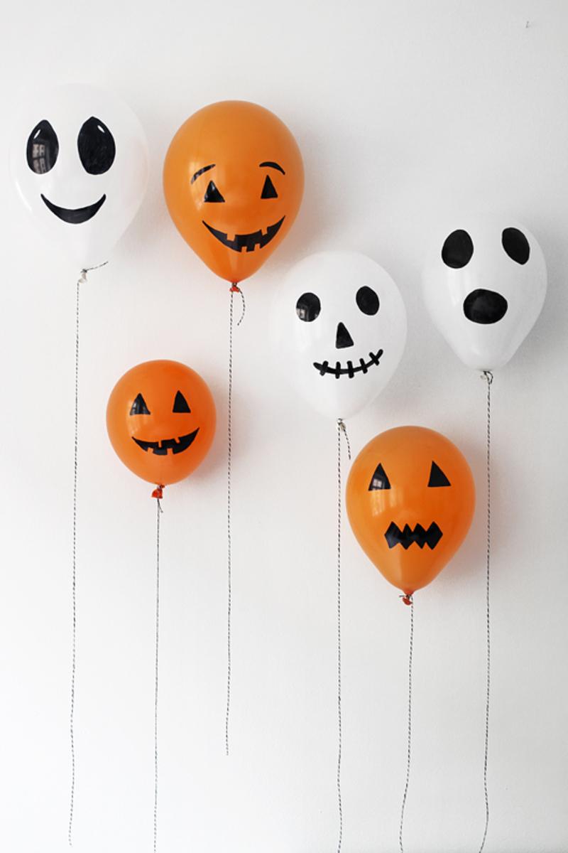 decoración de Halloween casera con globos