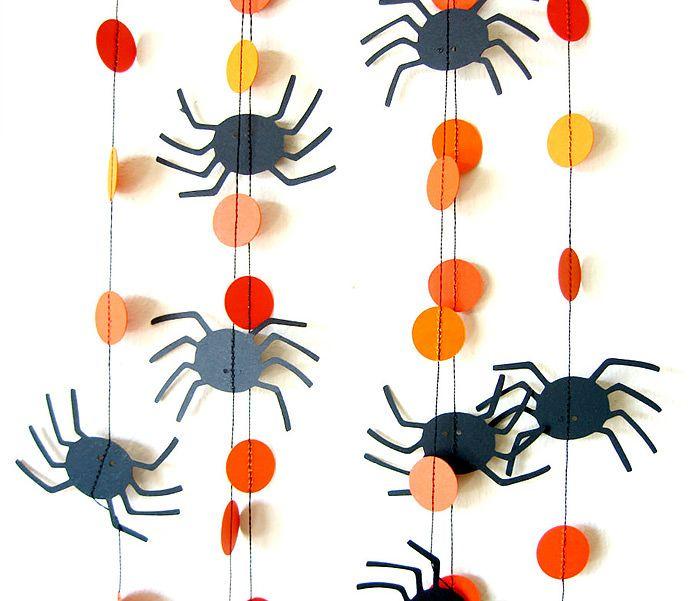 decoración de Halloween casera con fieltro