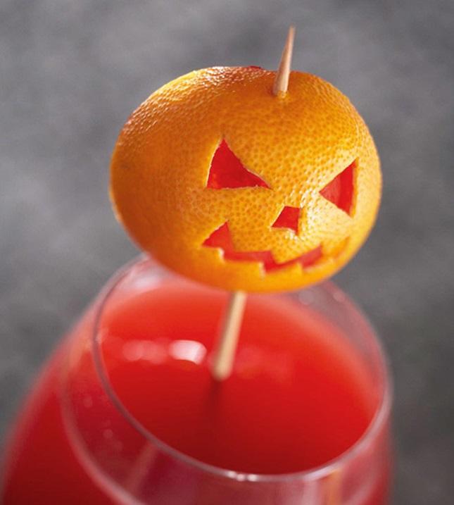 decoración de Halloween casera con mandarinas
