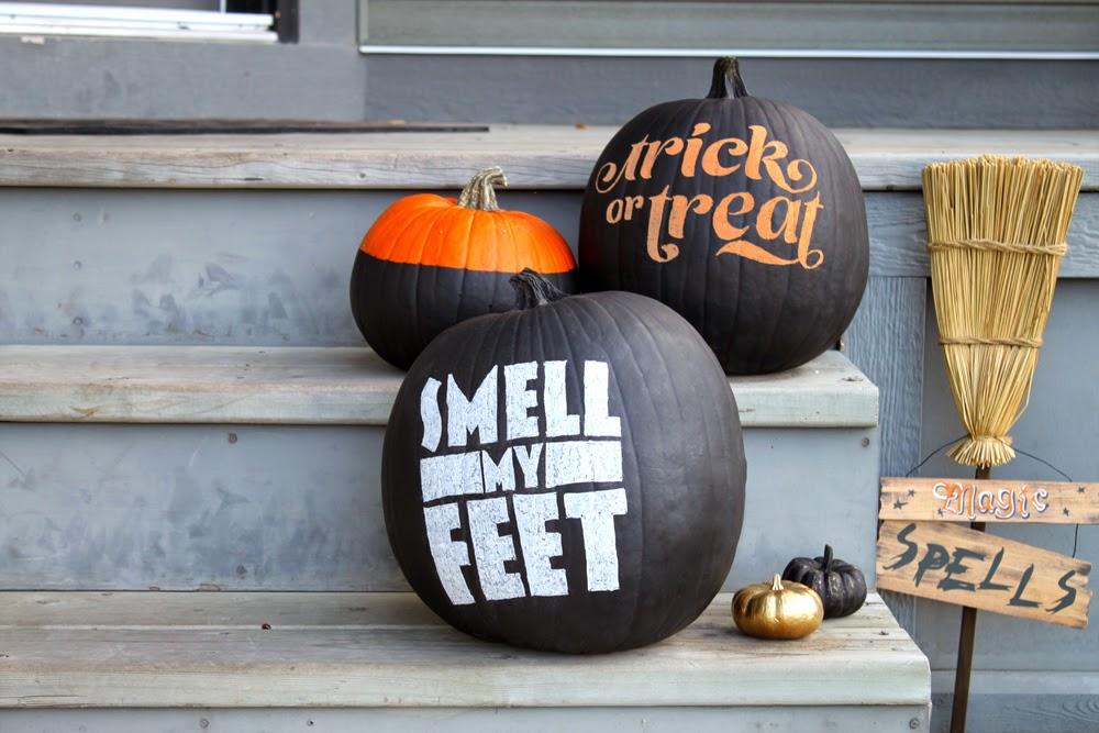 decoración de Halloween casera con pizarra