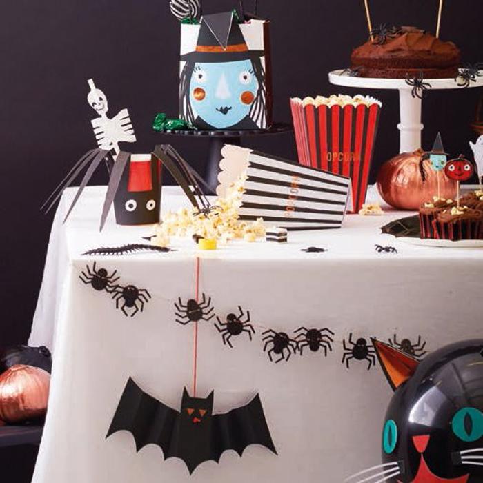 decoración de Halloween casera para la mesa