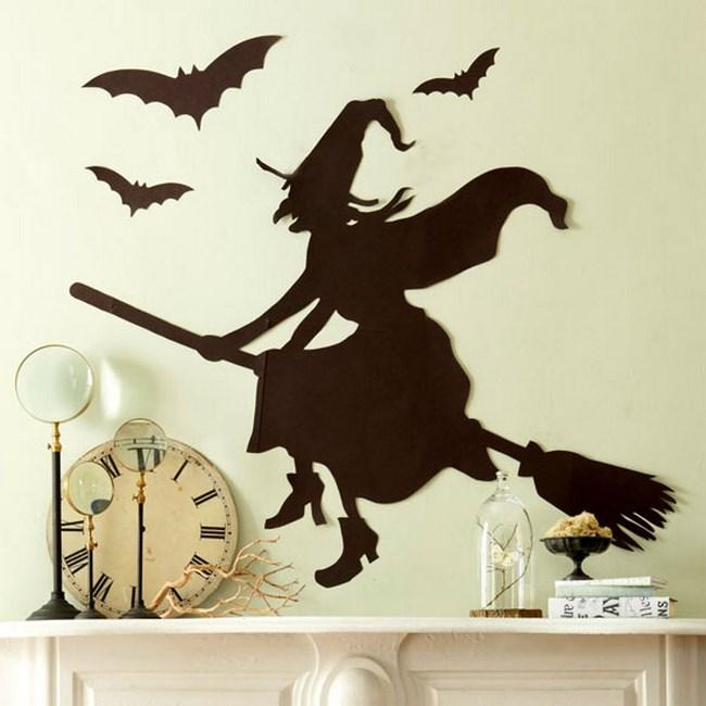 decoración de Halloween casera con figuras
