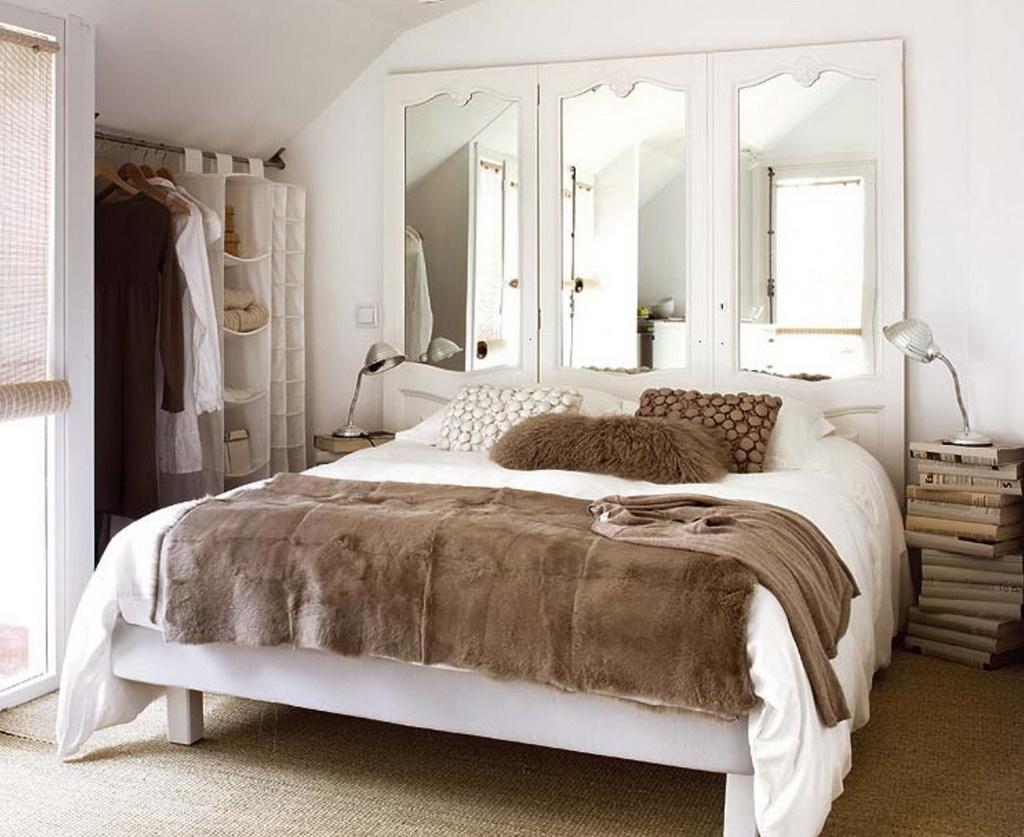 cabeceros originales con puertas y espejos