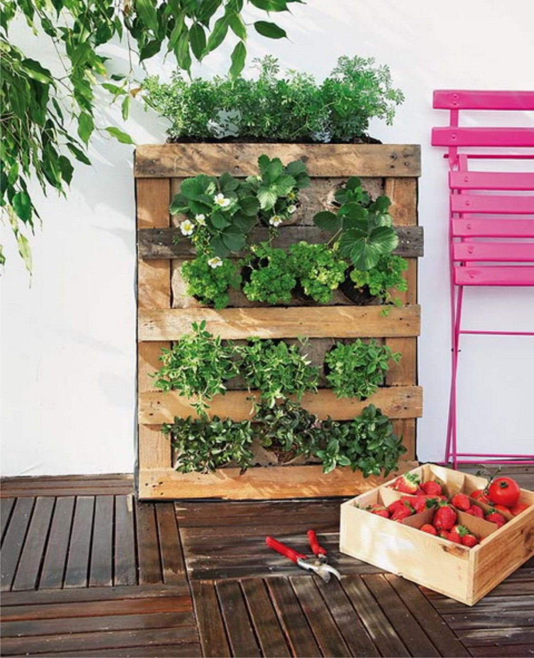 jardín vertical - pallets exteriores