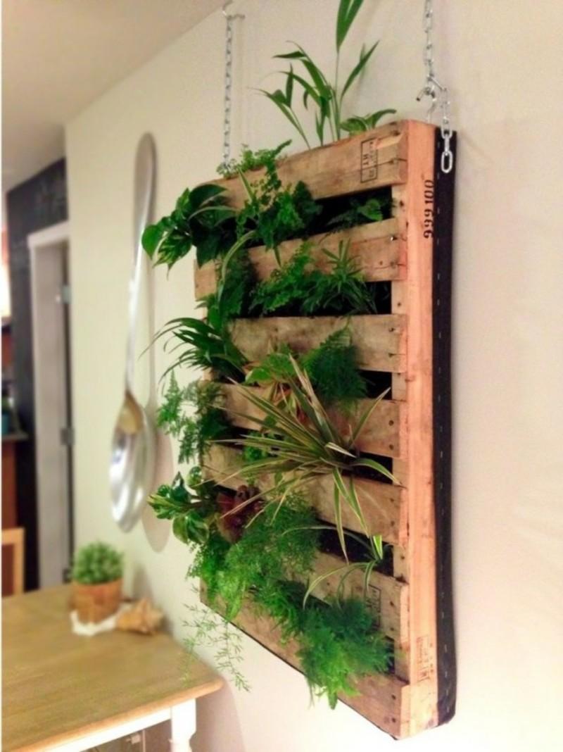 jardín vertical - pallet interior