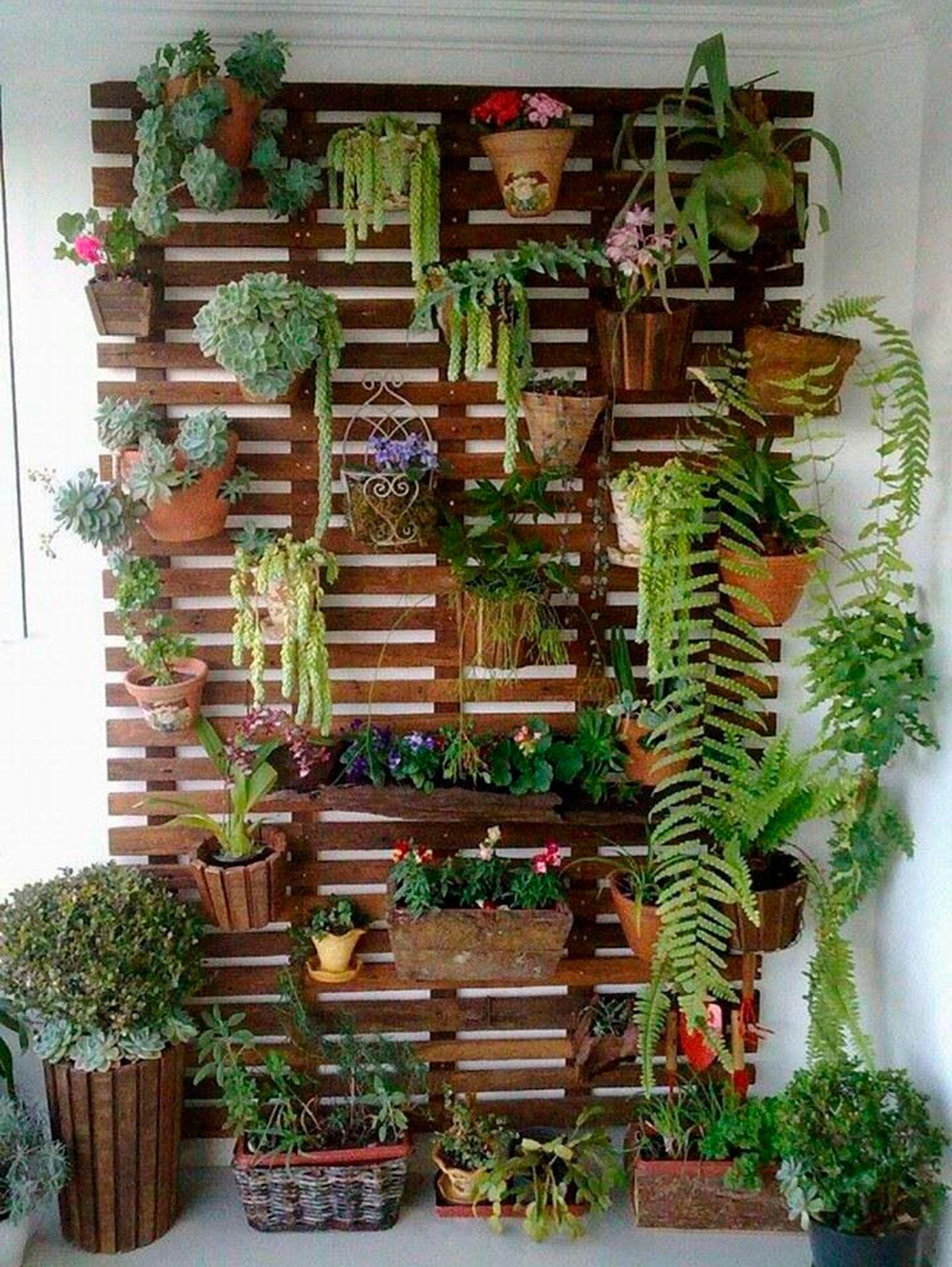 jardín vertical - pallet maceteros