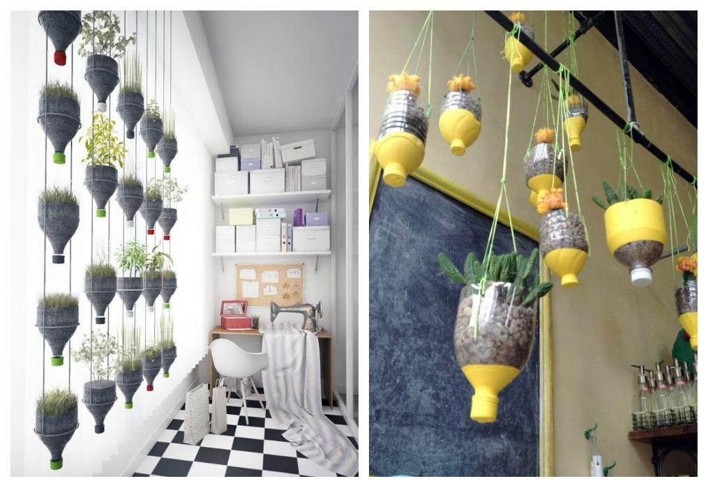 jardín vertical - botellas verticales