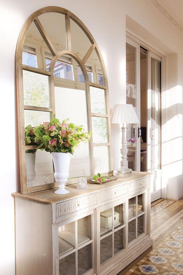 mueble de entrada - consola madera