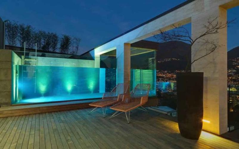 áticos de diseño - terraza de noches
