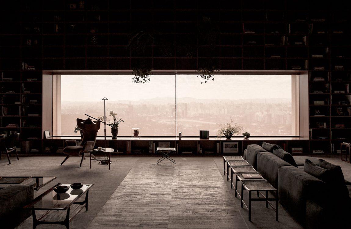 áticos de diseño - salón con vistas impresionanates