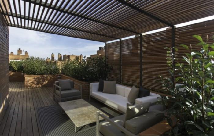 áticos de diseño - terraza de madera