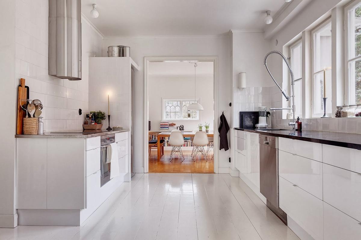 pisos decorados en blanco - Estocolmo