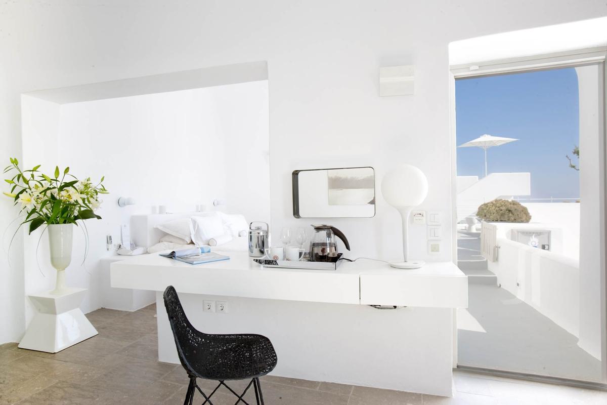 pisos decorados en blanco - Santorini