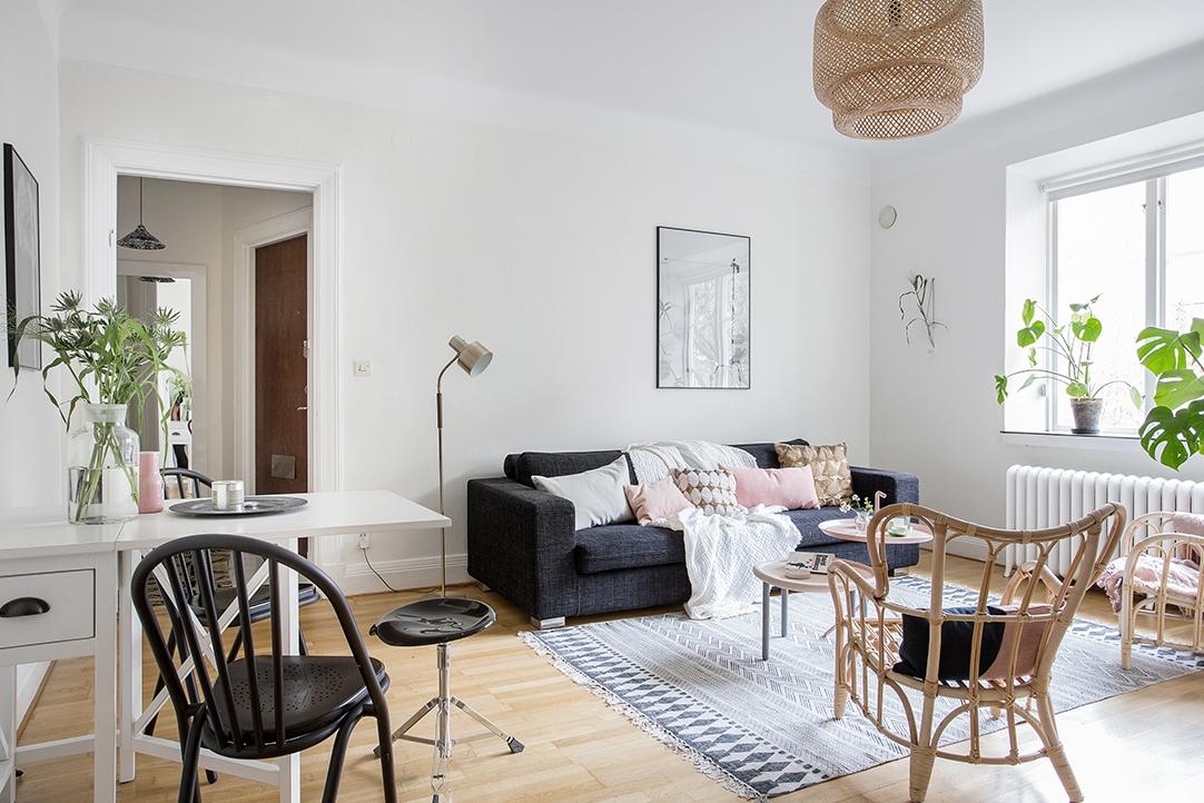 decoración de pisos pequeños - muebles multifuncionales