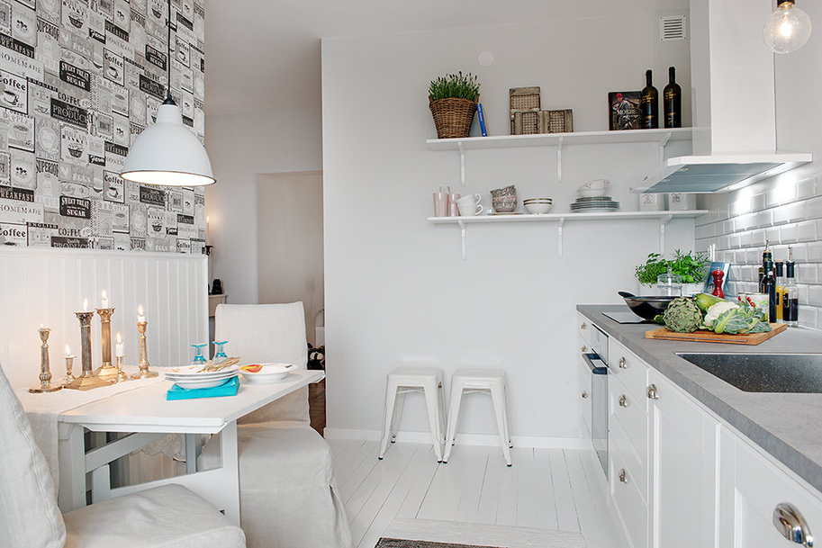 decoración de pisos pequeños - cocina