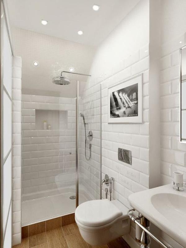 decoración de pisos pequeños - baño