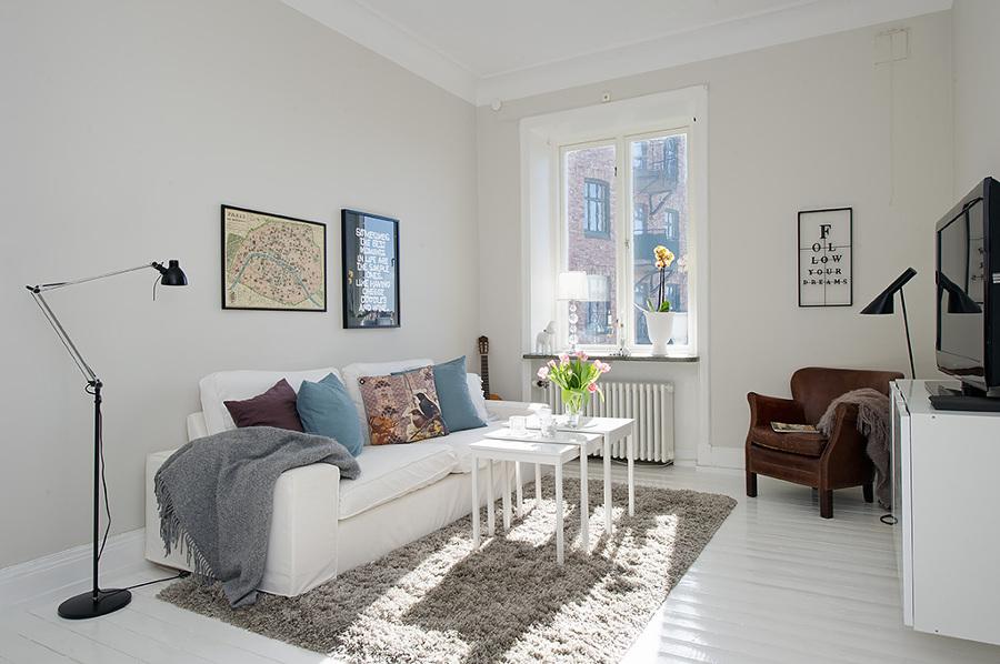 decoración de pisos pequeños - los textiles