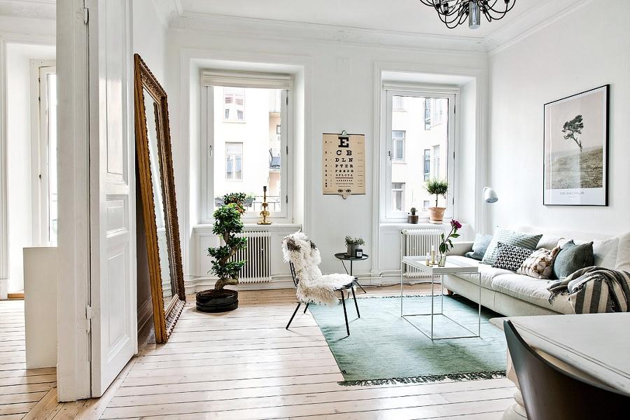 decoración de pisos pequeños - espejos